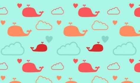 китовые облака шаблоны бесплатно