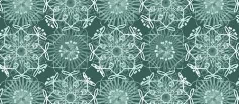 зеленая цветочная арабеска