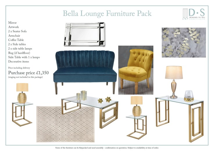 Bella Full Staging Furniture Pack - Lounge