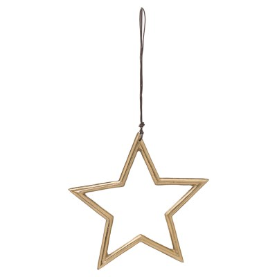 The Noel Collection Hanging Medium Brass Star