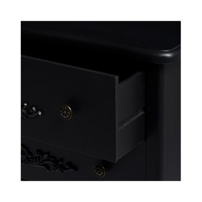 ANTOINETTE 4 DRAWER CHEST BLACK