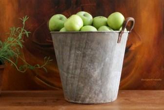 vintage steel farm bucket