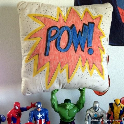 Easy 20 Minute Comic Book Style Pillow