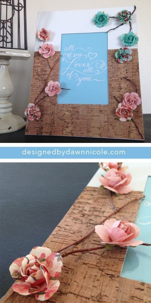 Vintage-Style Cork and 3D Flower Frame {15-Minute Craft!}