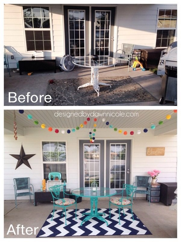 Before & After: $100 and 24 hour Porch Makeover