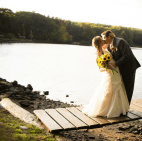 Wedding Pictures October Marriage Lake Outdoor Ceremony First Kiss Love