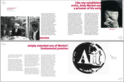 Andy Warhol: Spreads with Callouts