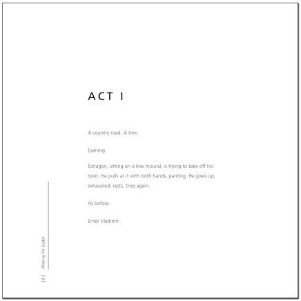 Waiting for Godot - Act I