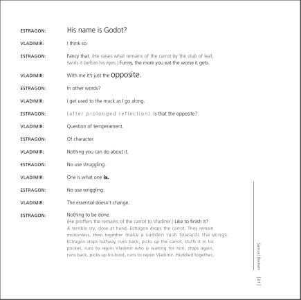 Waiting for Godot - pg 21