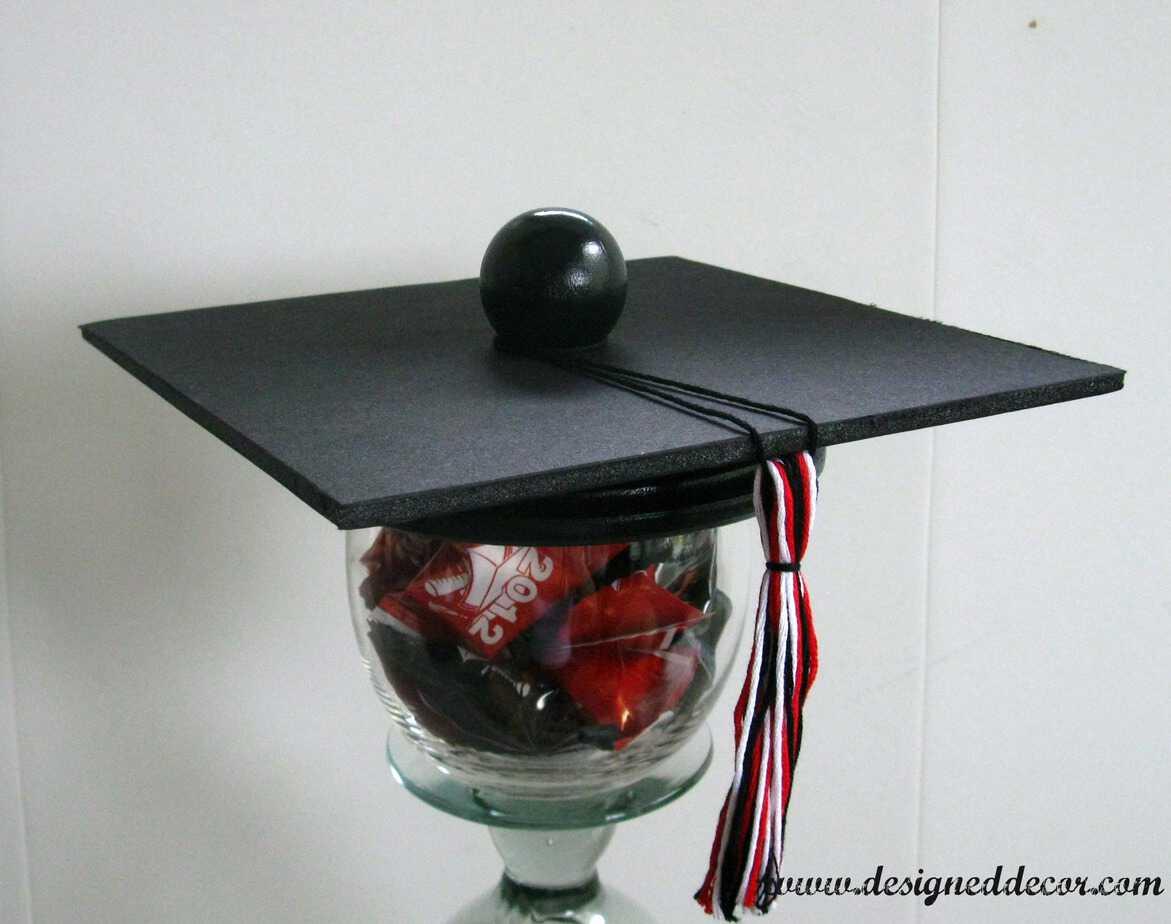 Graduation table decorations homemade - Graduation Party Candy Dish Designed Decor
