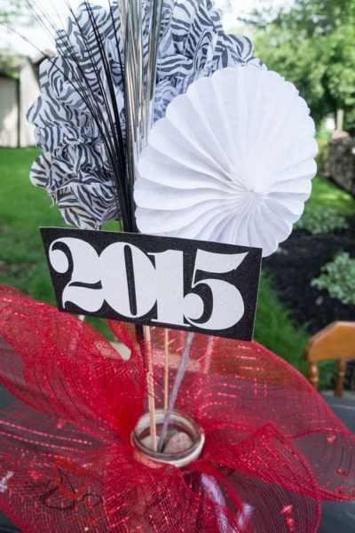 Graduation Party Table Decorations.