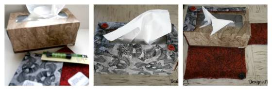 DIY fabric tissue cover