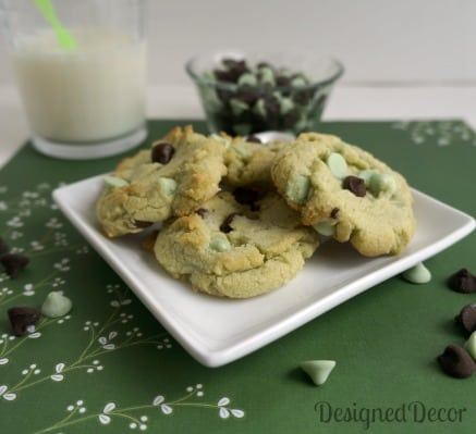 Mint Chocolate Chip Cookies 1