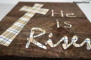 Wood Plaque He is Risen