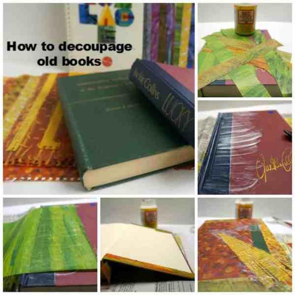 desoupage old books college