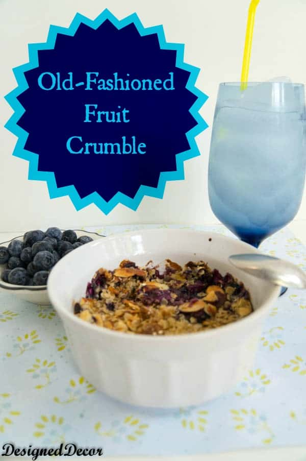 Old-Fashioned Blueberry Crumble