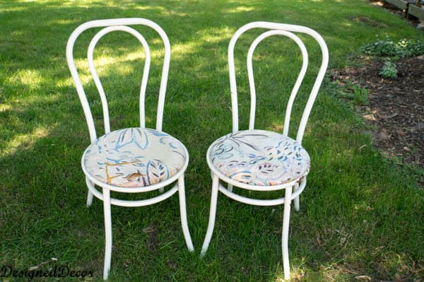 old metal chairs pictures of barber how to repurpose a rusted chair designed decor i love being in the right place at time this it was when my neighbors down street set out these for garbage