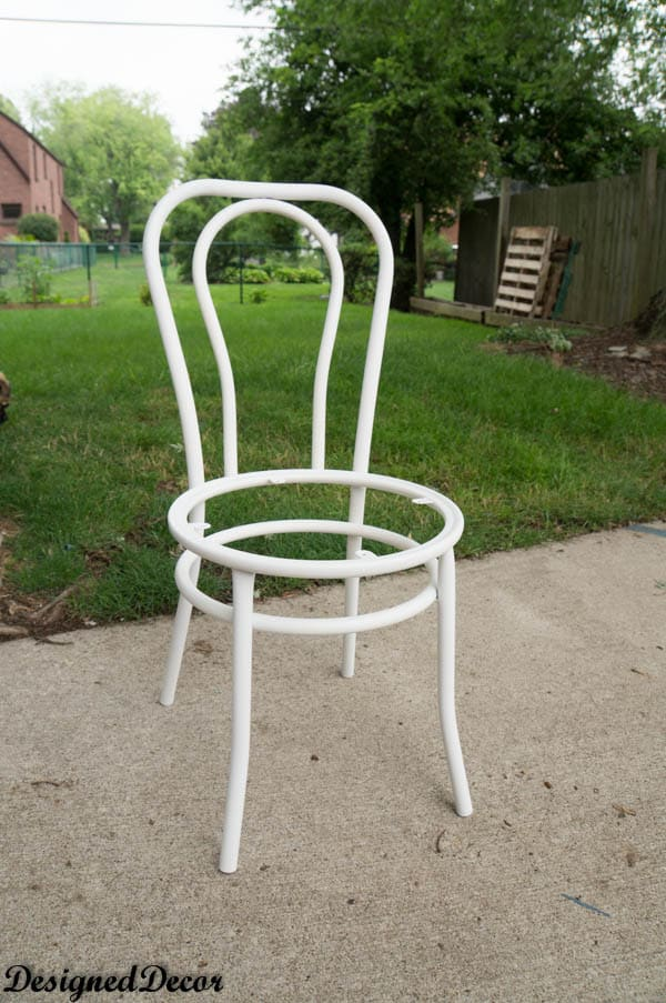spray painting metal furnitureHow to Repurpose a Rusted Metal Chair  Designed Decor