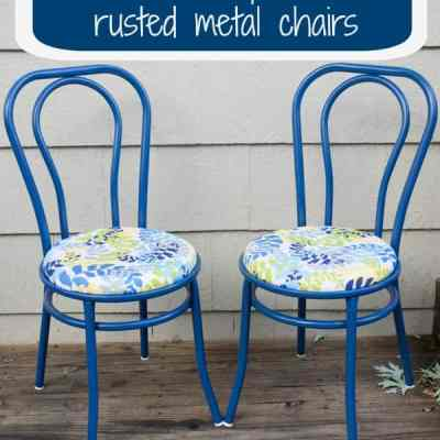 How to Repurpose a Rusted Metal Chair!