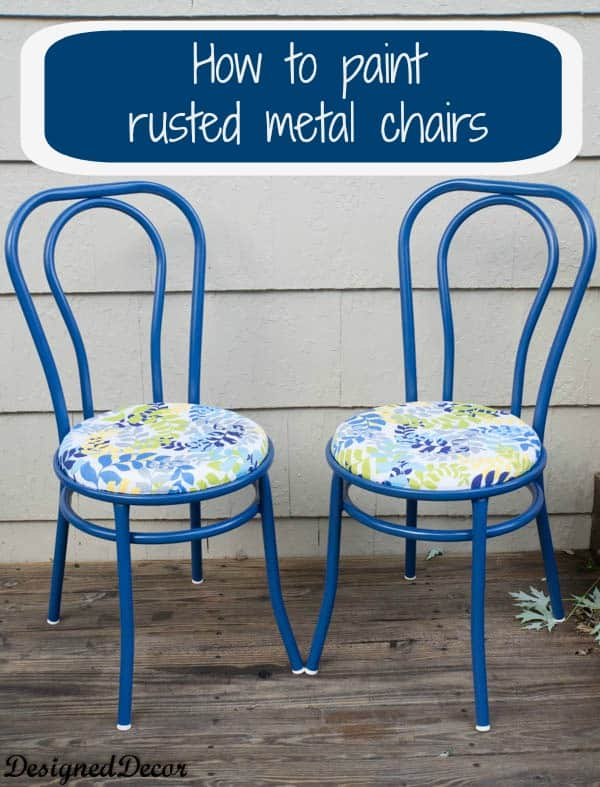 Marvelous How To Repurpose A Rusted Metal Chair Designed Decor Squirreltailoven Fun Painted Chair Ideas Images Squirreltailovenorg
