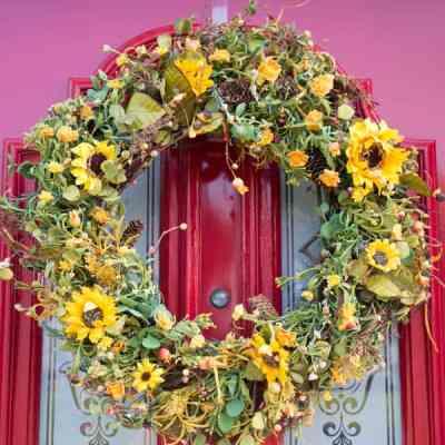 Sweet Hannas Fall Silk Door Wreath!