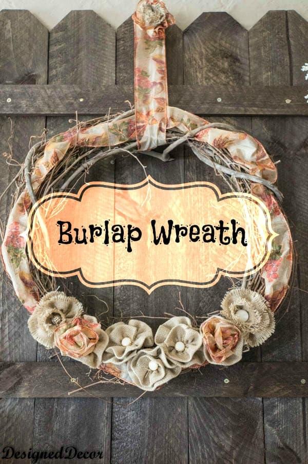 Burlap Wreath- How to make burlap flowers