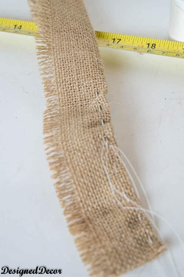loose stitch on burlap