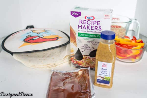 Quick and easy meal kit with Kraft Recipe Makers Tex-Mex Chicken Fajita-#shop