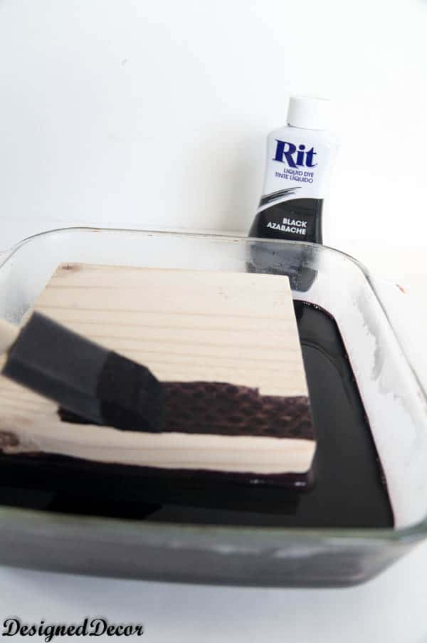 use an old baking dish to Paint with Rit Dye