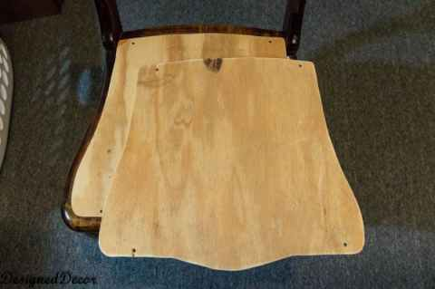 wood pattern for the base of Wood accent Chairs
