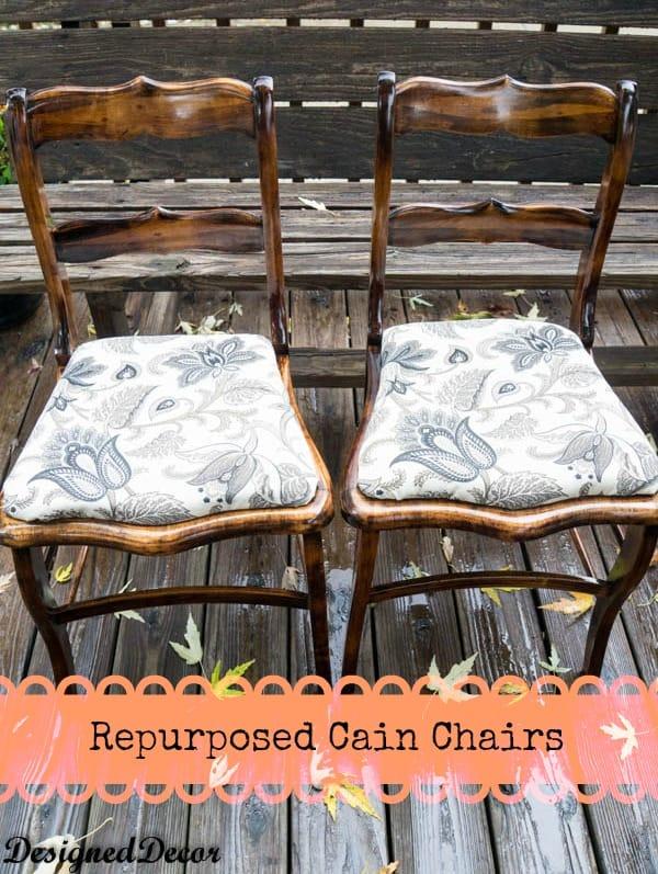 repurposed Wood Chairs