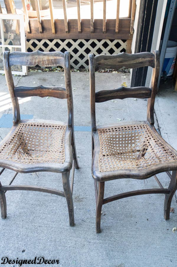 before picture of Wood accent Chairs