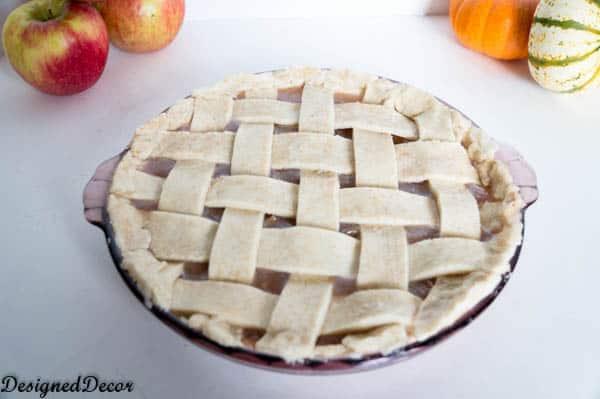 unbaked lattice apple pie crust