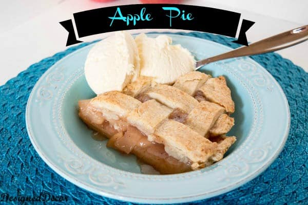 apple pie recipe ~ www.designeddecor.com