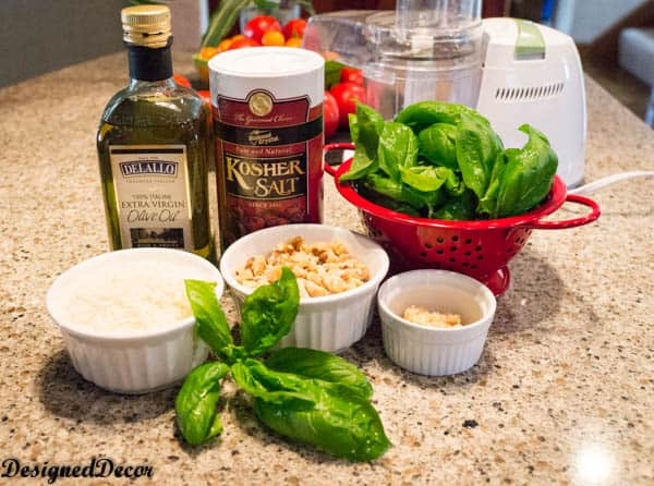 homemade pesto sauce