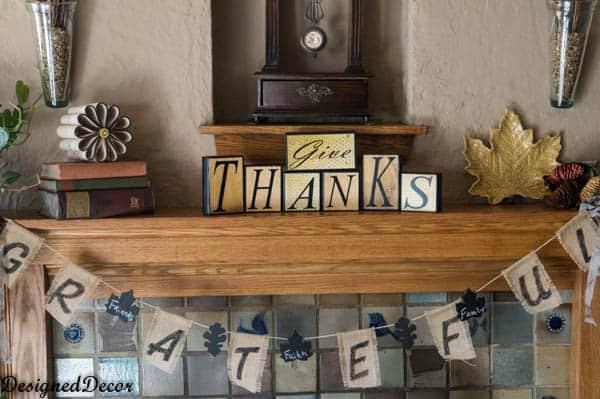 thanksgiving mantel 2013-2