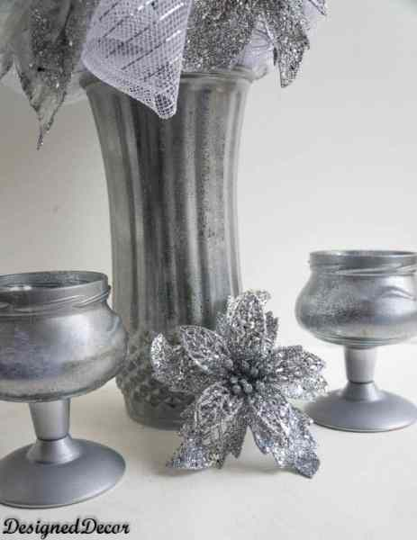Make Your Own Mercury Glass Candle Holders And A Vase Designed Decor