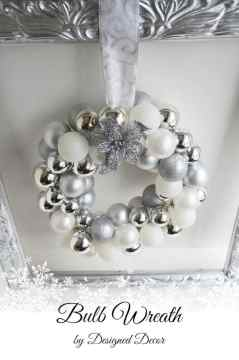 Silver Bulb Wreath-pinnable
