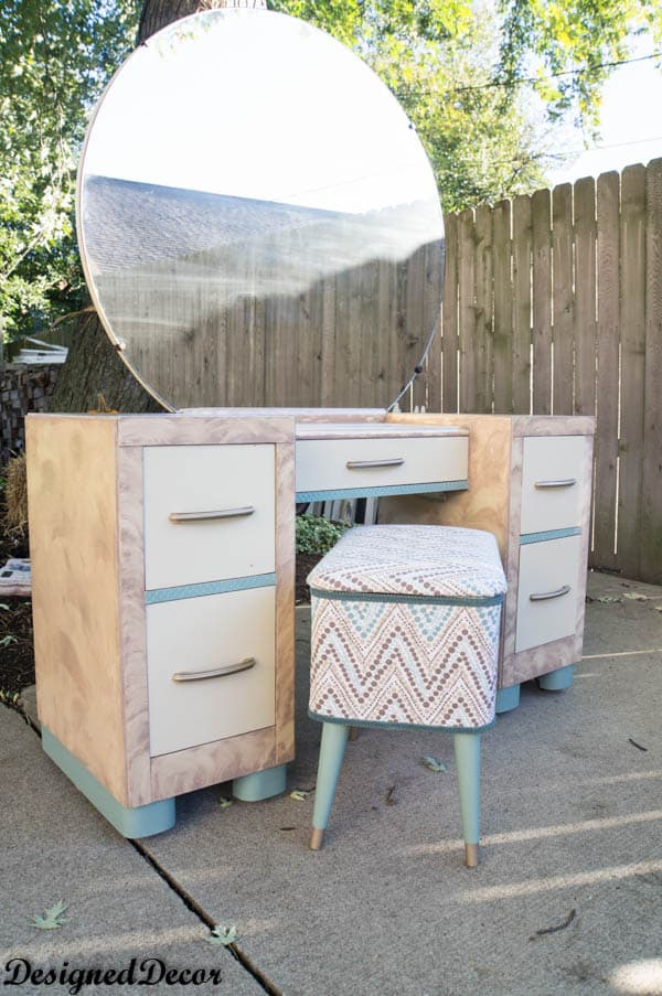 Vanity and Sewing box makeover