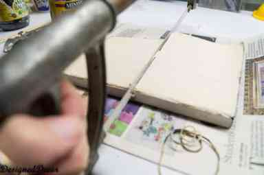 cutting the bookbinding