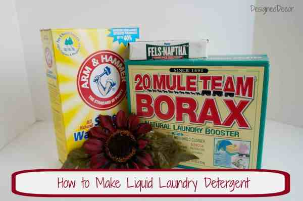 DIY Liquid Laundry Soap www.designeddecor.com