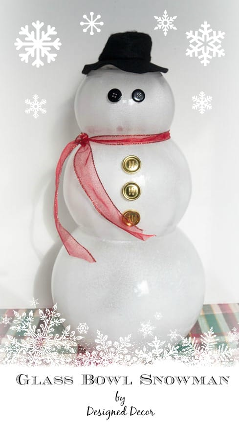 Glass Bowl Snowman-www.designeddecor.com