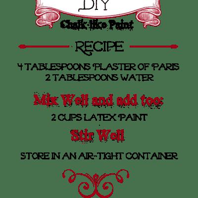 DIY Chalk-like Paint Recipe!