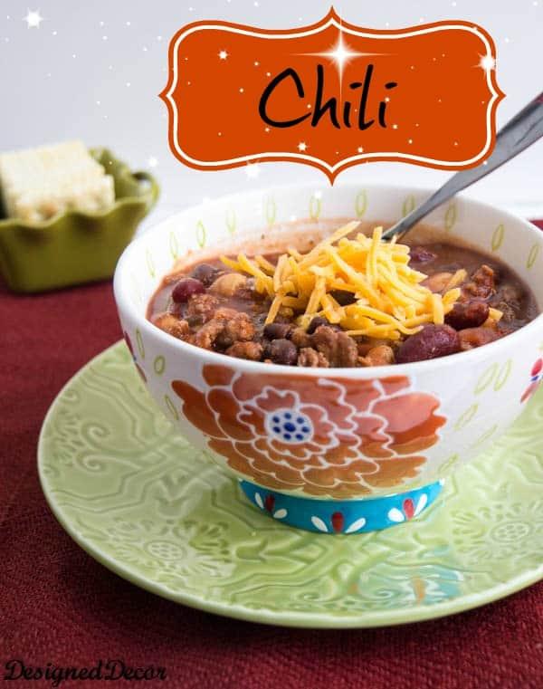 Chili  Recipe - A simple and easy recipe by @Designed Decor