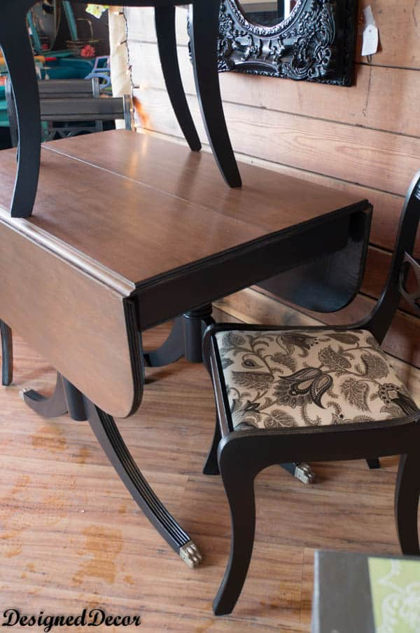 Duncan Phyfe style Drop Leaf Table and Chairs