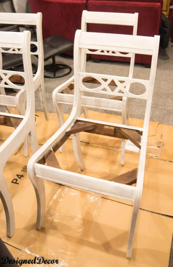 Priming the chairs with Bulls eye 123