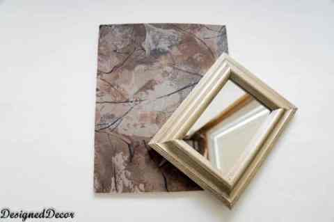 adding a mirror to the picture frame