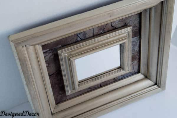 Repurposed picture frames using Modern Masters paint
