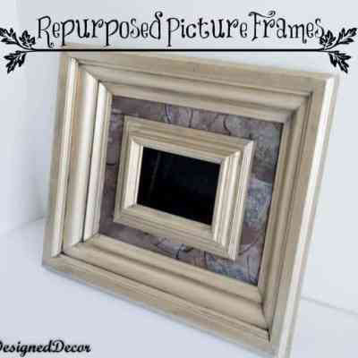 Repurposed Picture Frames with Modern Masters Paint!