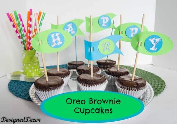 Oreo Brownie Cupcakes!